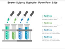 Beaker Science Illustration Powerpoint Slide