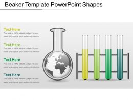Beaker Template PowerPoint Shapes
