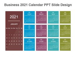 Beautiful 2021 Calendar Design Ppt Slides