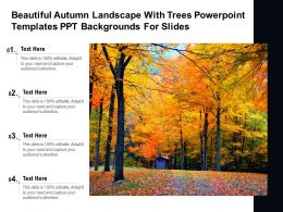 Beautiful Autumn Landscape With Trees Powerpoint Templates Ppt Backgrounds For Slides