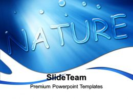 Beautiful Backgrounds Of Nature Powerpoint Templates Blue Drops Growth Ppt Design