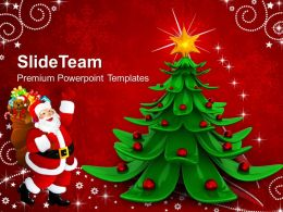 Beautiful Christmas Merry Abstract Background Powerpoint Templates And Themes