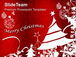 Beautiful Christmas Merry Abstract Powerpoint Templates Ppt Backgrounds For Slides