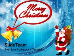 Beautiful Christmas Merry Bells Holidays Powerpoint Templates Ppt Backgrounds For Slides