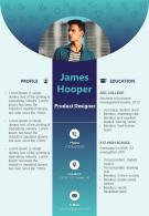 Beautiful Creative Design For Visual Resume Editable Sample