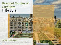 Beautiful Garden Of City Plaza In Belgium