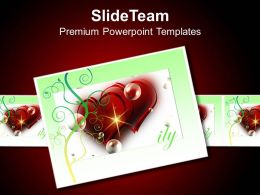 Beautiful Heart Theme Card To Show Love PowerPoint Templates PPT Themes And Graphics 0513