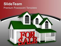 Beautiful House For Sale Real Estate PowerPoint Templates PPT Themes And Graphics 0213