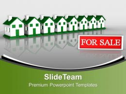 Beautiful Houses In Row For Sale Business PowerPoint Templates PPT Themes And Graphics 0213
