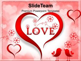 Beautiful Nature Pictures Download Powerpoint Templates Red Love Heart Abstract Image Ppt Backgrounds