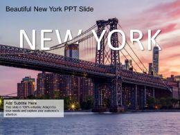 Beautiful New York Ppt Slide