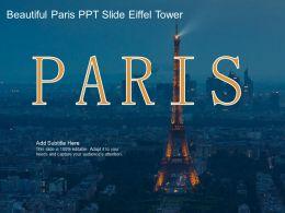 Beautiful Paris Ppt Slide Eiffel Tower