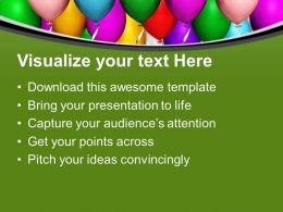 Beautiful Party Balloons Celebration PowerPoint Templates PPT Themes And Graphics 0213