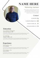 Beautiful Resume Design For Professionals A4 2 Pages CV Template