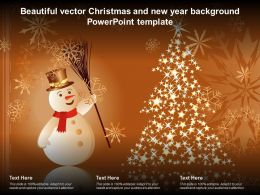 Beautiful Vector Christmas And New Year Background Powerpoint Template