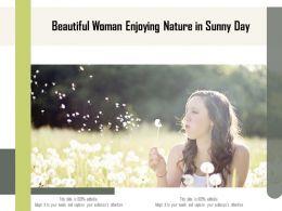 Beautiful Woman Enjoying Nature In Sunny Day