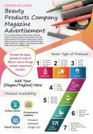 Beauty Products Company Magazine Advertisement Presentation Report PPT PDF Document