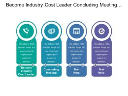 Become Industry Cost Leader Concluding Meeting Ensuring Convergence