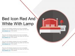 Bed Icon Red And White With Lamp