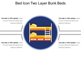 Bed Icon Two Layer Bunk Beds