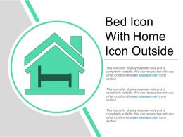 Bed Icon With Home Icon Outside
