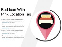 Bed Icon With Pink Location Tag