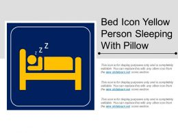 Bed Icon Yellow Person Sleeping With Pillow
