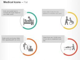 Bed Wheel Chair Medical Treatment Ppt Icons Graphics