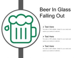 Beer In Glass Falling Out