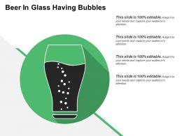 Beer In Glass Having Bubbles