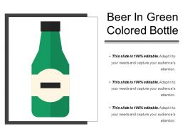 Beer In Green Colored Bottle