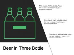 Beer In Three Bottle