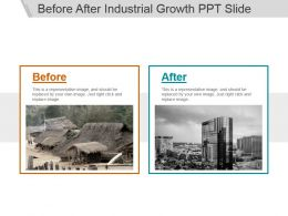 Before After Industrial Growth Ppt Slide