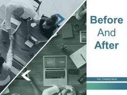 Before And After Business Growth Financial Ratios Process Comparison Solving Problem Technology