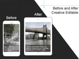 Before And After Creative Editable Example Of Ppt Presentation