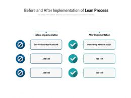Before And After Implementation Of Lean Process