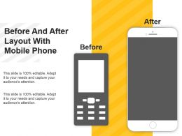 Before And After Layout With Mobile Phone Example Ppt Presentation