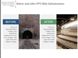 Before And After Ppt Slide Infrastructure Good Ppt Example