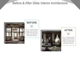 Before And After Slide Interior Architecture Sample Of Ppt