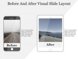 Before And After Visual Slide Layout