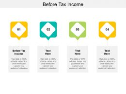 Before Tax Income Ppt Powerpoint Presentation Portfolio Demonstration Cpb