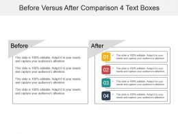 Before Versus After Comparison 4 Text Boxes Powerpoint Graphics