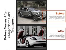 Before Versus After Comparison Cars Transport Powerpoint Guide