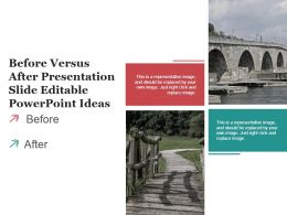 Before Versus After Presentation Slide Editable Powerpoint Ideas