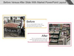 Before Versus After Slide With Market Powerpoint Layout