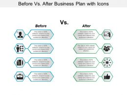 Before Vs After Business Plan With Icons