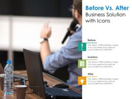 Before Vs After Business Solution With Icons