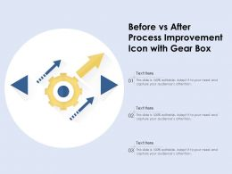 Before Vs After Process Improvement Icon With Gear Box