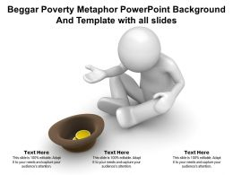 Beggar Poverty Metaphor Powerpoint Background And Template With All Slides