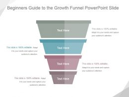 Beginners Guide To The Growth Funnel Powerpoint Slide